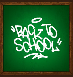 back to school on school chalkboard vector image