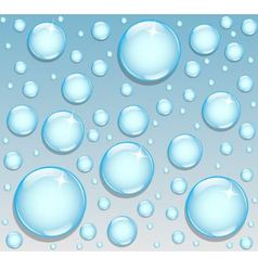 background with round drops vector image