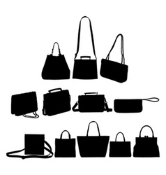 bag silhouettes vector image