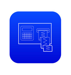 Cardiograph icon blue vector