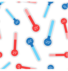 Celsius and fahrenheit thermometer icon seamless vector