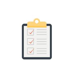 checklist on clipboard icon vector image
