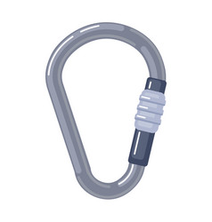 Climbing safety carabiner isolated on white vector