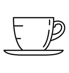 coffee cup icon outline style vector image