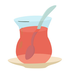 cold tea icon cartoon style vector image