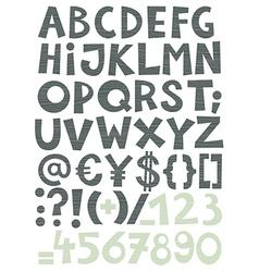 Coloured alphabet vector