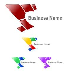 Company identity logo vector image
