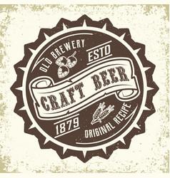 Craft beer emblem design vector