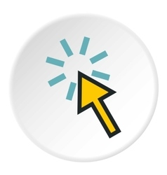 Cursor arrow is pointing icon flat style vector