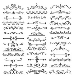 Decorative swirls dividers old text delimiter vector