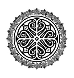ethnic tattoo 0004 vector image