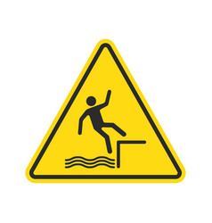 fall hazard sign vector image