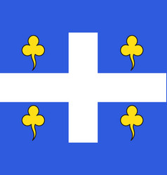 Flag of ambert in puy-de-dome of vector