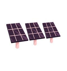 Flat solar panels battery sun power station vector