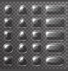 Glass plate ui buttons app icons transparent vector