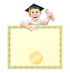 graduate and diploma vector image
