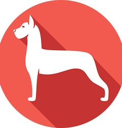 Great Dane Dog Icon vector image