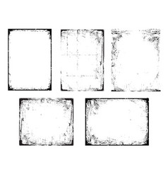 grunge black and white urban texture frames vector image