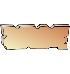 Hand-drawn of a Plank vector image