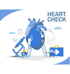 Heart check flat style design vector
