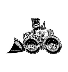 Heavy equipment loader vector