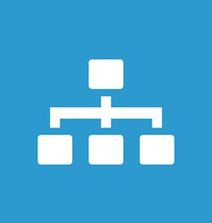 Hierarchy icon white on the blue background vector