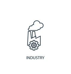 industry concept line icon simple element vector image