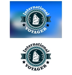 International Voyager emblem vector