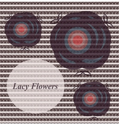 lacy flowers vector image