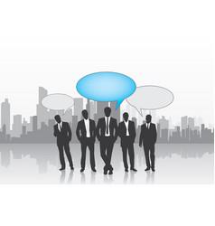 leader of teamwork background vector image