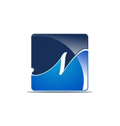 letter n logo design template vector image
