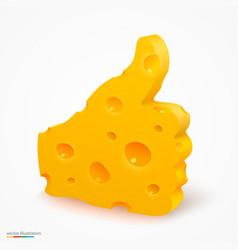 Like cheese vector