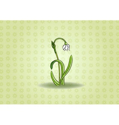 Loddon lily on the green background vector