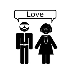 love relationship love vector image