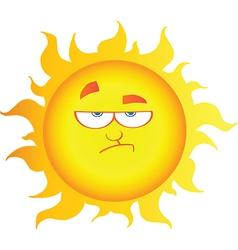 Lowering Sun Cartoon Character vector image vector image