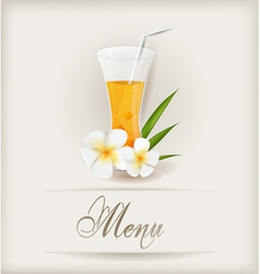 menu with juice vector image