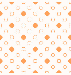 minimalist orange and white seamless art pattern vector image