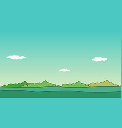 Nature landscape and sky background vector