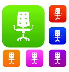 office chair set color collection vector image