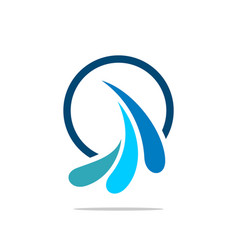 ornamental splash water logo template vector image