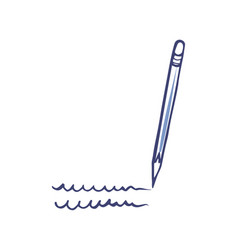 pen or pencil writing tool isolated icon vector image