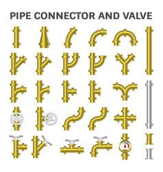 pipe connector icon vector image