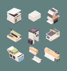 printing equipment paper industry offset printer vector image