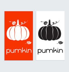 pumkin logo icon sign tamplat pumkin silhouette vector image