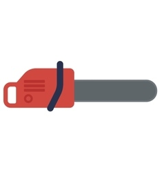 Red chain saw vector