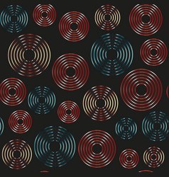 retro circle seamless pattern vector image
