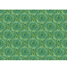 seamless green vertical floral background in retro vector image