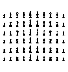 Silhouette chess pieces vector