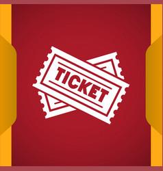 Ticket icon vector