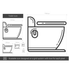 Toilet line icon vector